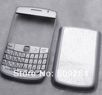 Full Housing Fascia Case Cover Faceplate + Keyboard for Blackberry 9700 Silver High Quality