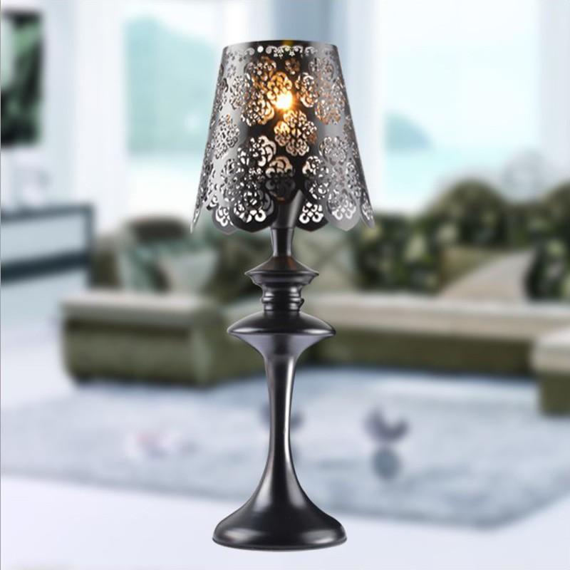 European Fashion Lace Iron Bedside Bedroom Decorative Table Lamp(China (Mainland))