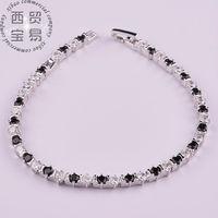 Fashion Jewelry Platinum Plated AAA+ Cubic Zirconia Diamond Roman Women Chain Bracelet & Bangle Suit For party SL001