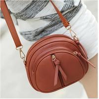 2014 free leisure tie-in tassel zipper bag delivery women messenger bag fashion lady single shoulder bag