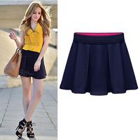 European American New Women Fashion Flase 2Piece Loose Plus Size Ruffles Shorts Summer Cute Pretty Polyester Short 9252