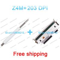 Zebra z4m plus 203dpi printhead print head and zebra z4m plus roller 100% new Three months warranty free shipping print head