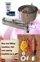 with capper and heater 100-1000ml semi automatic liquid paste filling machine for cream shampoo