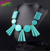 2014 New Arrival Vintage Silk Resin Gem Necklace Resin Necklace Women Choker Necklace 9306