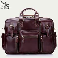 2015 Special Offer Sale Zipper Men Bag 100% Genuine Leather High Quality Cowhide Bags Vintage Travel for Original Design Luggage