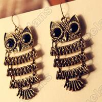Fashion  Retro Smart Owl Vintage Earrings Earring 6055