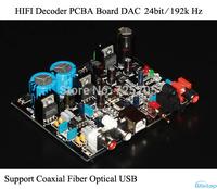 HIFI Decoder PCBA DAC 24bit /192k Coaxial Optical USB Receiver CS8416 Decode AD1852 Replace Sound Card Audio DIY Free Shipping