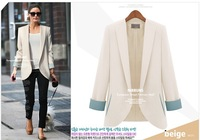 The new 2014 Ms. Small suit Candy color three quarter sleeve female suit chromophous slim blazer haoduoyi plus size