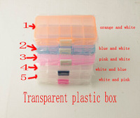 Jewelry box 10 / electronic components of transparent plastic box, Free Shipping! Clear Beads Display Storage Case Box