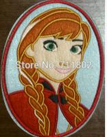 Big size Felt Frozen princess Snow Queen Anna Iron On Patches cartoon Appliques patch kids accessory  wholesale100pcs/lot
