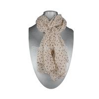Free Shipping Very Nice Fashion Faux Silk Scarf, Fashion Peach Color Bones Scarf, Warm Scarf, 3 Pcs/Lot