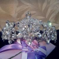 Bride Tiaras and Crown Wedding Accessories White Rhinestone Bride Bridesmaid Jewelry tiaras and crowns