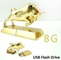 Metal Taurus usb flash drive 4GB 8GB 16GB 32GB Thumb/Car/Key/Pen Drive usb flash disk memory stick gift 1pcs/free shipping