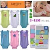 Carter's Baby Sleeveless Bodysuits Newborn one piece cloth 0-24Month Retail Free Shipping