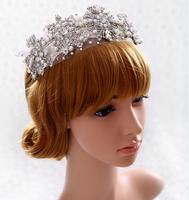 NEw Designs Handmade Wedding Bridal Pearl Princess Crystal Hair Tiara Crown accessories