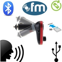 New Wireless Hands-free Car Kit Bluetooth FM Transmitter MP3 Player With Mic, Dual USB Charging Micro SD/TF card Reader Slot