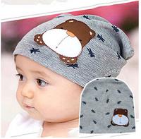 Infants and children set of head cap cartoon puppy cotton winter baby hat hedging