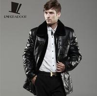 casual winter fur coat fleece leather jacket men black mens plus size motorcycle jacket jaqueta de couro masculina  3XL 6XL BW5