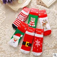 Novelty 100% Combed Cotton Thickening Christmas Baby Socks Xmas Socks Warm Socks for Autumn Winter pp1