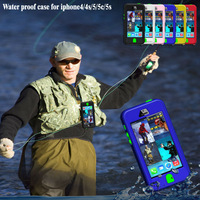 Newest Second Generation Upgrade Durable Waterproof Shockproof Dirt Proof Case For iPhone 4 4S 5 5C 5S Cover With On-off Key