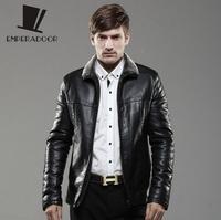 casual PU winter fur coat fleece leather jacket men black mens fleece motorcycle jacket jaqueta de couro masculina 6XL BW5
