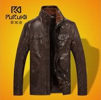 casual PU coffee winter leather jacket men black 6XL mens motorcycle jacket jaqueta de couro masculina BW5