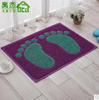 Footprint and Leaves Design Floor Mat Bath Rug Area Rug Door Way Mat Anti-slip Doormat/ Floor Rug