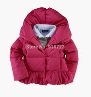 2014 New Brand Children Outerwear Down and Parkas Girls Children Clothing Jacket Coat 3-8T Hoode thicken Warm Winter