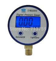 """Free shipping digital pressure gauge meter manometer battery-powered 60mm dia 1/4""""BSP 0-8bar"""