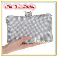 Hot Style Women's Luxury Diamond Evening Bag. Bling Full Diamond Female Party Clutch Purse. Wedding Bridal Handbag Shoulder Bag