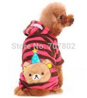 10pc/lot  2014 Fashion Winter  PET  dog coat  Christmas bear  hoody jacket  jumpers clothes very cute size:XXS-L JPC913.8