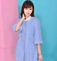 Woolen coat female 2014 winter new Korean Slim stylish long sleeve wool coat horn section  NDX133  Y9W
