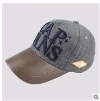 The new 2014 outdoor sunshade cotton embroidery baseball cap letters bailey cap cloth flat wool cap