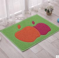 Floor Mat Bath Rug Area Rug Door Way Mat Anti-slip Doormat/ Floor Rug Apple Flowers Design Mat