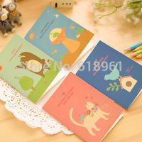 12pcs/lot Small Cute Cartoon Animal Notebook Diary Book/Notepad/Memo Pad Korea Stationery School Student Gift 12.5*9cm Wholesale