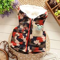 children's winter Outerwear Coats  Yellow men vest hooded vest Kids windbreaker Jacket 100% eiderdown cotton baby warm vest