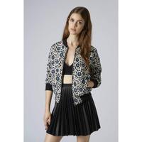 New Autumn Winter Women Vintange Wind Floral Prints Jacket Coat,Ladies Slim Zipper Full Sleeve Stand Collar Loose Outerwear w107