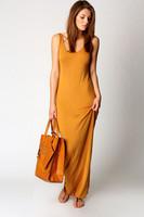 5-colors New 2014 women summer casual dress long dress sleeveless O-neck beachwear vestidos SJ1129