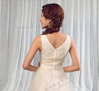 shoulder bridesmaid wedding dress, evening gown,  different color customize dovetail,  cocktail dress