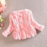 2014 Children Girls Outerwear Warm Down Flower Print Coats And Jackets For Children Winter Spring New 4pcs/ lot