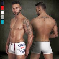 Wholesale 12 PCS European Style Men Underwears Boutique Sexy Biquini Cotton Printing Underwear Men Boxer  Free Shipping