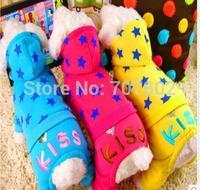 10pc/lot  2014 Fashion Winter  PET dog coat  Christmas kiss  hoody jacket  jumpers clothes very cute XXS-L JPC913.11