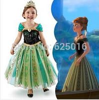 Inspired Frozen Dress Frozen Costumes Queen Elsa Princess Anna Girls Frozen Birthday Snowflake Cosplay Girl Frozen Party Dresses