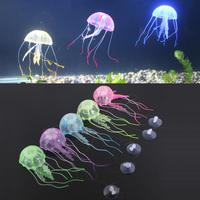5 pcs Artificial Silicone Vivid Jellyfish For Fish Aquarium Decoration
