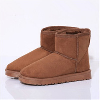 2014 New winter Korean style women boots with thick short boots flat bottom casual boots pure color  xx268