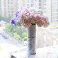 50 PCS Beautiful Artificial Hydrangea Bouquet Silk Flowers Home Decoration F175