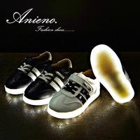 2014 new brand fashion kids LED light shoe children sneaker running shoes for toddler girl boy tenis sapato infantil menina