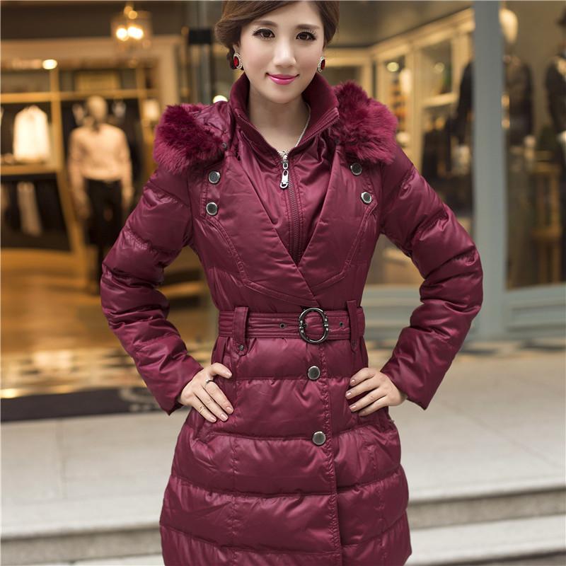 Winter overcoat women medium-long down jacket women slim coat winter outerwear women winter coat(China (Mainland))