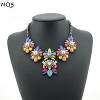 Brand Designer Flower Choker Women Necklaces & Pendants Fashion Statement Necklace 2014 Luxury Big Pendant Statement Jewelry