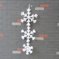 Free shipping Christmas decoration Xmas decoration hanging snow pieces indoor & outdoor decorations for Christmas 18 pcs